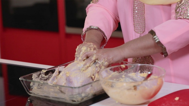 marinate chicken well with bare hands