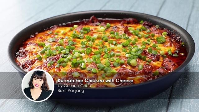 Korean Fire Chicken with Cheese