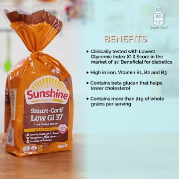 Sunshine Low Sugar Smart Carb Low GI bread health benefits