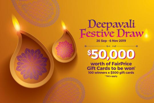 NTUC Fairprice Deepavali Festive Draw