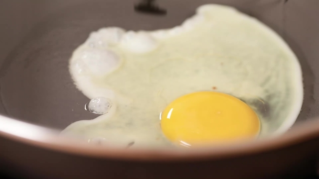 Sunny side up frying in pan