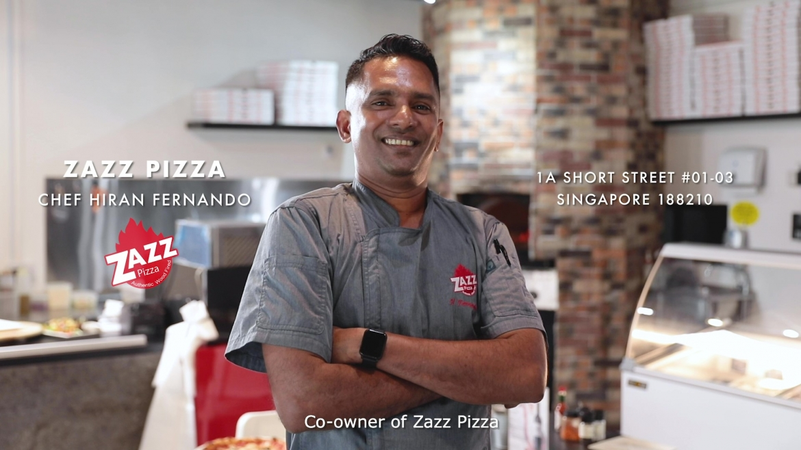 Chef Hiran Fernando of Zazz Pizza