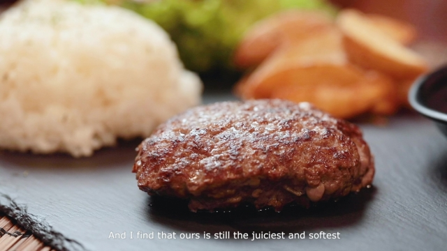 Fukuyoshi Hamburger Steak with rice, salad and wedges at Deli's Kitchen