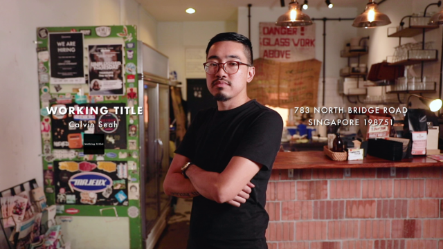 Clavin Seah from working title, burger bar at arab street