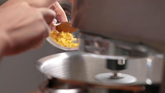Adding lemon zest to mixer
