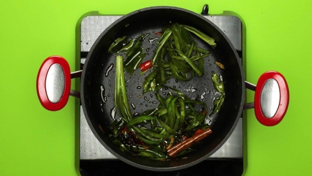 biryani spices and pandan leaves frying