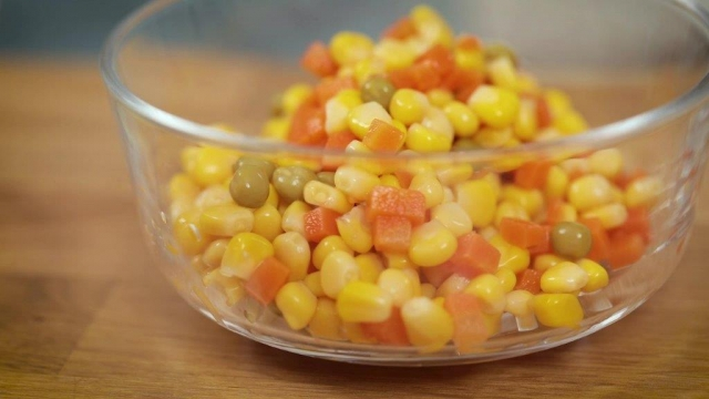 del monte mixed vegetables in a bowl
