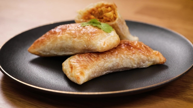 Frozen prata curry puff with chicken and potatoes