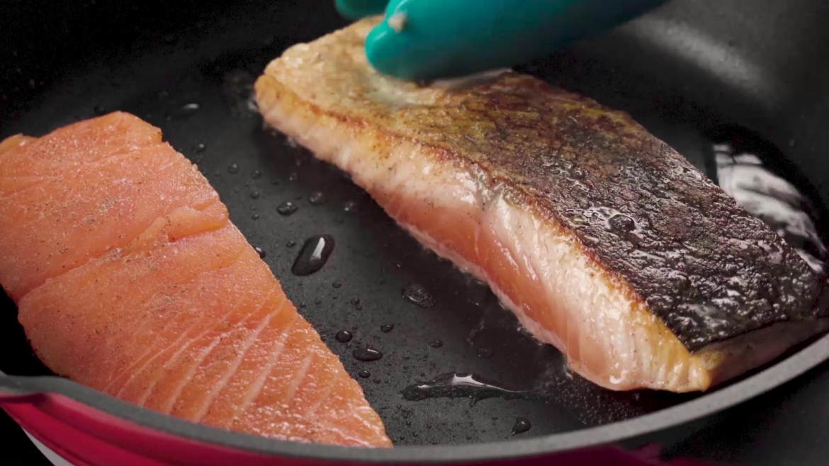 fresh salmon can be purchased at NTUC Fairprice