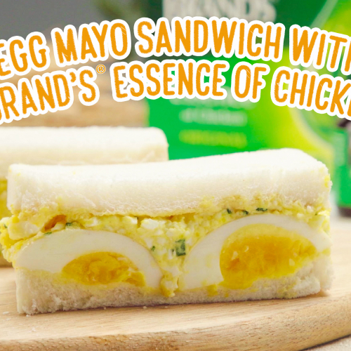 Egg Mayo sandwich with brand's essence of chicken cover photo