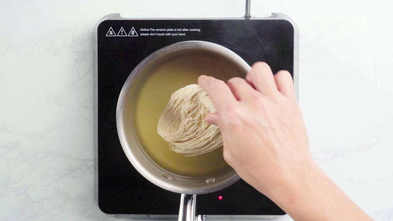 Add mee sua into the soup