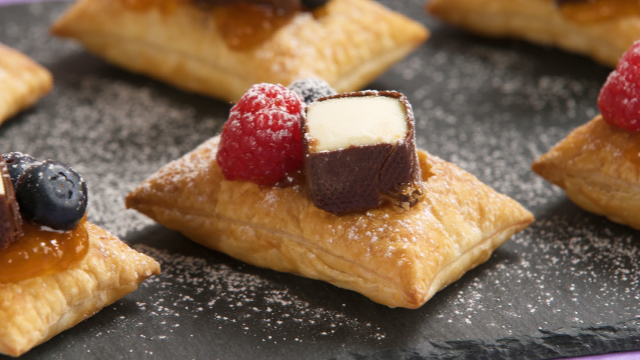 Apricot Puff with Cheese Curds and Berries recipe
