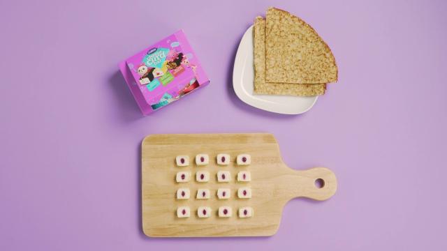 Chopped Lakto cheese curd on a board
