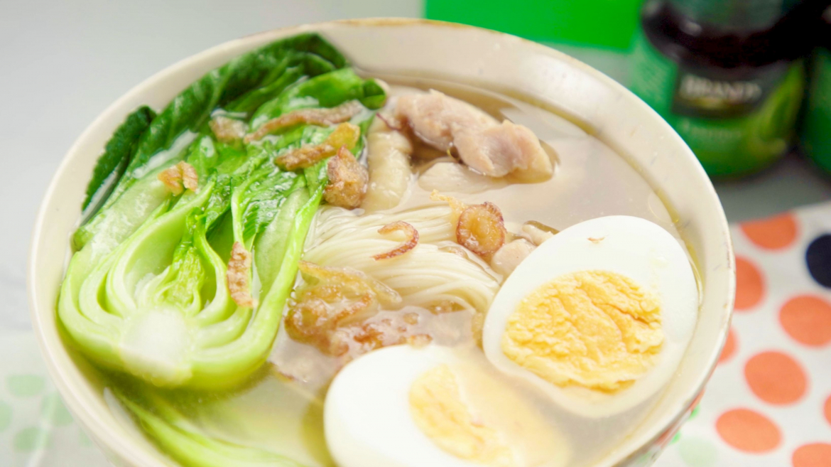 Mee sua soup with Brand's Essence of chicken