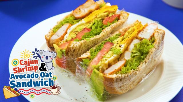 Australia Cajun Shrimp and Avocado Sandwich Sunshine Bakeries Share Food Singapore