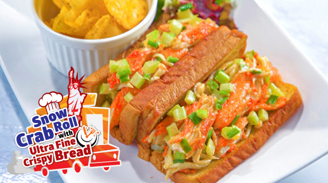 Snow Crab Meat with Ultra Fine Crispy Bread Sunshine Bakeries Share Food Singapore
